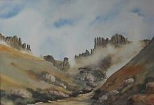 Drakensberg Mountains South Africa Inscr Mnweni Watercolour c1980s Lionel Ashley