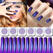 Purple Mirror Nail Art Powder Chrome Pigment Glitter Dust DIY Art Tips Manicure
