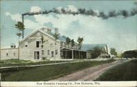 New Holstein WI Canning Co Mill c1910 Postcard