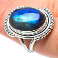 Labradorite 925 Sterling Silver Ring Size 7.5 Ana Co Jewelry R30958F