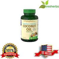 COCONUT OIL 1000 MG ORGANIC 100% EXPELLER PRESSED ENERGY SUPPLEMENT 100 SOFTGELS