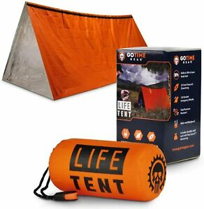 Emergency Tent Survival Shelter 2 Person Portable with Survival Whistle Paracord