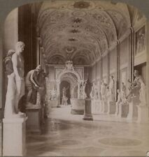 Italy. The Gallery of Statues, The Vatican, Rome. Underwood Stereoview #017