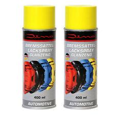 2x Dino 130090 Bremssattellack gelb 1-komponenten LACK Spray 400ml