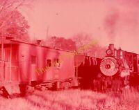 W&OV Train Engine Locomotive 35mm Slide Vtg Souvenir C&NW Freight