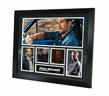 Paul Walker - Signed Photo - Movie Memorabilia - Limited Edition - Framed