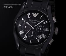 100% Authentic Emporio ARMANI CHRONOGRAPH Ceramic Watches AR1400