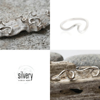 Silvery Ring Welle Wellenring Silber 925 Surfer beach california schmuckrausch