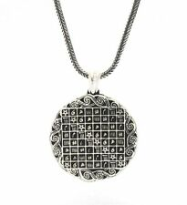 İsmi Azam Celcelutiye Vefki DOUBLE SIDED SILVER NECKLACE