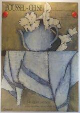 AFFICHE 1992 le peintre Poussel-Celse expose Galerie Berlioz à Sausset /18PB