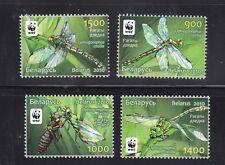 Belarus 2010 WWF Dragonfly set- 4 stamps