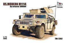 T-Modelo 1/72 #7202 EE. UU. M1114 Humvee Up-Armored vehículo táctico con GPK Torreta