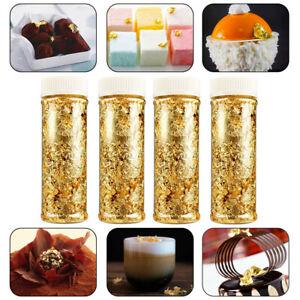 3x 2G Edible Gold Leaf Foil Cooking Drink Food Dessert Cake Ice Cream Decoration