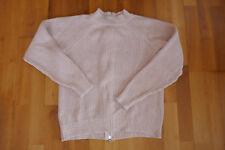 Pullover Damen Rundhals Gr. S Langarm rosè rosa Reißverschluss am Rücken
