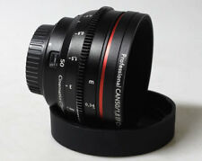 Cinematics Canon 50mm F1.8 with gear ring for BMCC BMPCC CANON EOS 5D SONY A7S