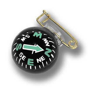 Coghlans pin on glow in the dark ball liquid filled camping compass GID 1168