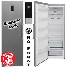 Kühlschrank Stand NoFrost 186cm Silber 390 Liter Edelstahl Look Vollraum Display