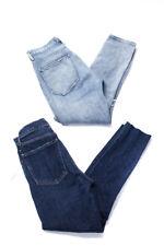 Agolde Womens Slim Leg Button Up Jeans Blue Cotton Size 25 Lot 2