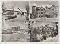 """Ansichtskarte Oberhof - """"Glückauf""""/""""Fritz Weineck""""/""""Stachanow""""/Oberer-Hof - s/w"""