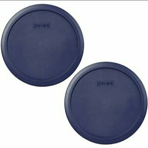 2 X PYREX Blue Plastic Cover fits 6 & 7 cup Round Dishes
