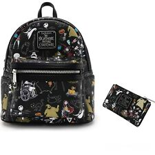 Loungefly Disney Nightmare Before Christmas Mini Backpack & Wallet AOP NWT*RARE*