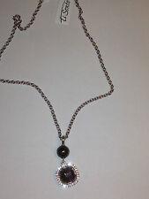 TI SENTO  Collier en argent pendentif perle et pierre NEUF
