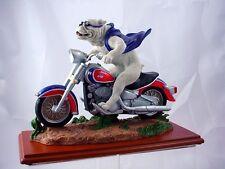 Gonzaga Bulldog Wild Thang Mascot on Motorcycle   ZAGS