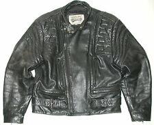 Open Road Men's Black Armor Leather Motorcycle Biker Jacket SZ: M