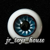 Extra High Grade & Quality Glass Eye 18mm Purple Blue Vein HG SD 1/3 BJD