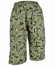 Muster Jungen Kinder Shorts Bermuda 3/4 kurze Hose Sommer Jungs Knaben Gr.98-146