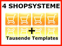 4x Webshop Shopsystem Shop Onlineshop Shopsoftware Web Projekt Webprojekt 1A MRR