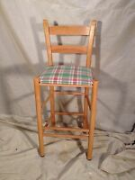 Hand Made In NC (label)Solid Maple Bar Stool. Virginia Local pickup MAKE OFFER.