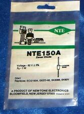 Nte Electronics Nte150A Zener Diode Single 82V 5% 1W 2-Pin Do-41 Nos