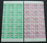 DDR ROLLENMARKEN 1868 1869 v R UNZERTRENNTE BOGENTEILE ! 20 x 5er Streifen z1557