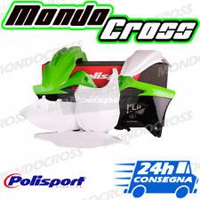Kit plastiche cross mx POLISPORT Verde Nero KAWASAKI KX F KXF 450 2013-2015