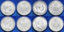 Lot 4 Coins Germania  Prussia 3 Mark 1910 A  Wilhelm II Silver #LOT27