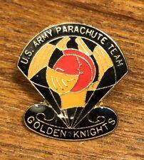 US Army Parachute Team Golden Knights Lapel Hat Pin ~RARE HTF Red Helmet Version