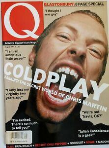 Q Magazine August 2002 Coldplay cover, Glastonbury, Norah Jones, Queen, No Doubt