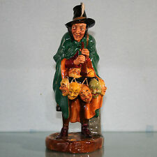 """Royal Doulton Figurine #HN2103 """"The Mask Seller"""" Leslie Harradine Mint"""