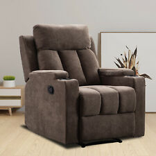 Manual Recliner Chair Living Room Theater Recliner with Cup Holders Lounge Sofa