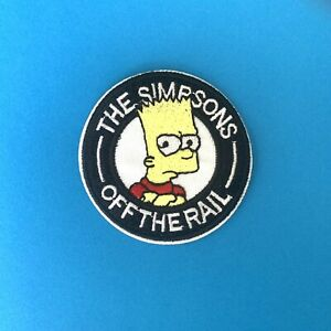 The Simpsons Bart Simpson Off The Rail - Iron On Patch Embroidered Badge Sticker