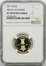 2011-W Medal of Honor $5 NGC PF 70 Ultra Cameo Gold Modern Commemorative