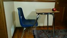 Student one piece desk and chair