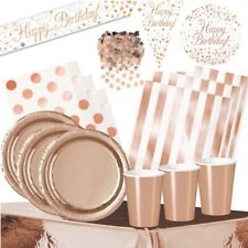 Rose Gold Foil Party Supplies Tableware, Decorations & Balloons