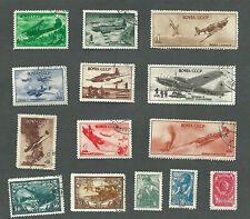 Russia Ussr 1939 1943 1945 Mlh and Used/Cto War Stamps Airplane Small Lot of 14