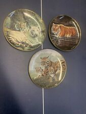 Franklin Mint Heirloom Collector Plates Big Cats 3 Plates Tigers And Leopards