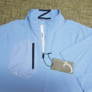 ZERO RESTRICTION  LIGHTWEIGHT POLY SHORT SLEEVE GOLF PULLOVER--L--NEW!TAGS!!