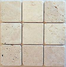 rosoni  rosone mosaico 10x10 travertino chiaro sfuso prezzo al mq