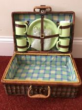 Vintage Wicker Picnic Hamper/ Tea Set