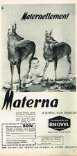 H- Publicité Advertising 1964 Les Vetements pour enfants bébé Materna Rhovyl